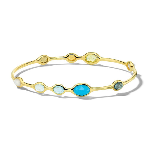 9-Stone Bangle in 18K Gold GB600OASIS