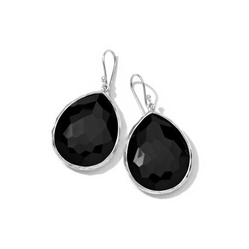 Large Teardrop Earrings in Sterling Silver SE119NX