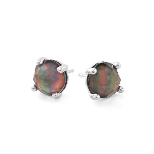 Single Stone Stud Earrings in Sterling Silver SE1503DFBKL