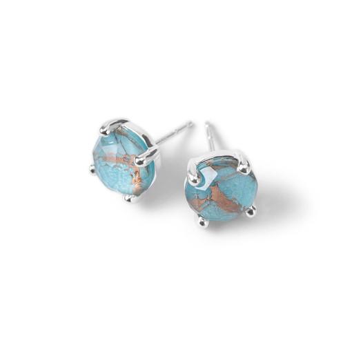 Single Stone Stud Earrings in Sterling Silver SE1503DFBZTQ