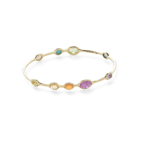 9-Stone Bangle in 18K Gold GB600SUMRAINB
