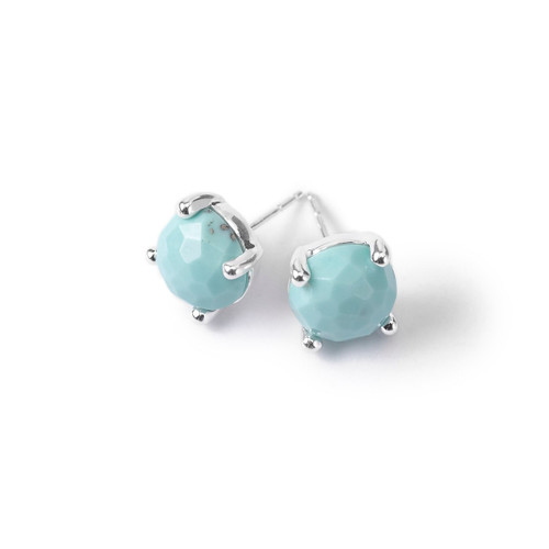 Single Stone Stud Earrings in Sterling Silver SE1503TQ