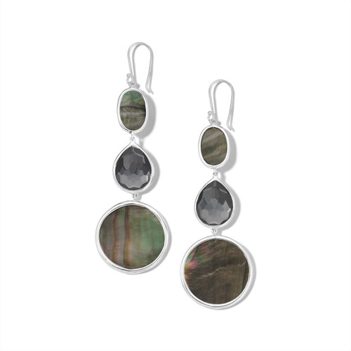 Graduated Drop Earrings in Sterling Silver SE1549DFHEMBKL