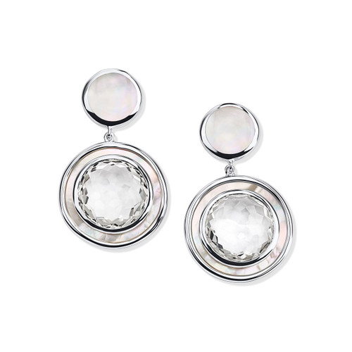 Small Snowman Earrings in Sterling Silver SE1554CQMOP
