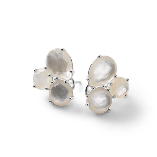Cluster Stud Earrings in Sterling Silver SE1589DFMOP