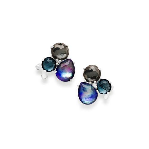Cluster Stud Earrings in Sterling Silver SE1589ECLIPSE