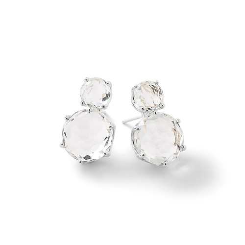 2-Stone Post Earrings in Sterling Silver SE1593CQ