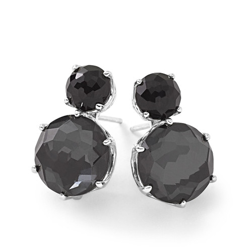 2-Stone Post Earrings in Sterling Silver SE1593NXDFHEM