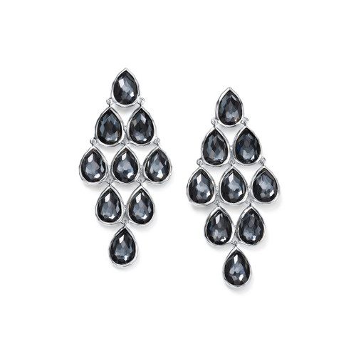 Teardrop Cascade Drop Earrings in Sterling Silver SE1679DFHEM