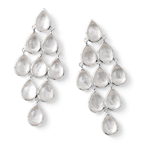 Teardrop Cascade Drop Earrings in Sterling Silver SE1679DFMOP