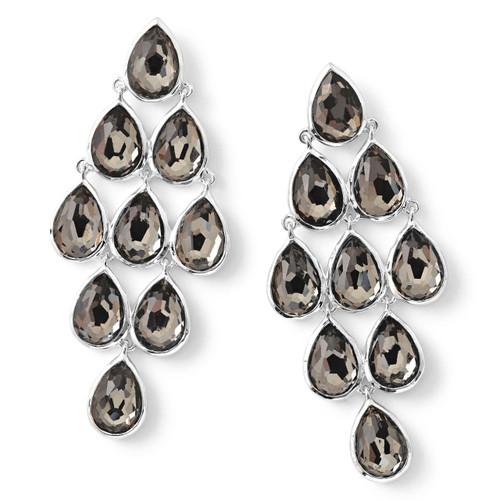 Teardrop Cascade Drop Earrings in Sterling Silver SE1679DFPYR