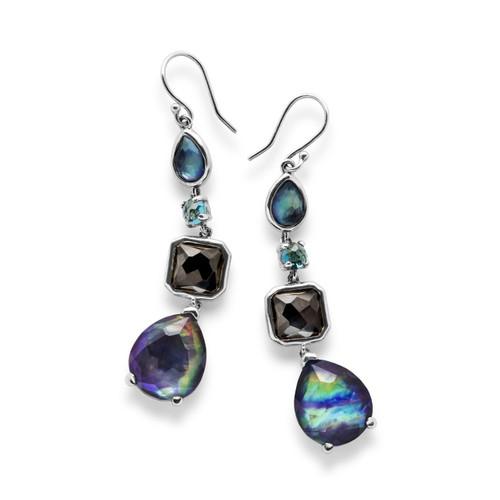 4 Stone Drop Earrings in Sterling Silver SE1688ECLIPSE