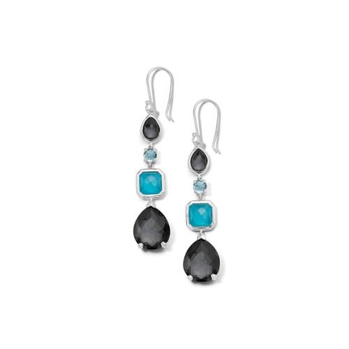 4 Stone Drop Earrings in Sterling Silver SE1688MARITIME
