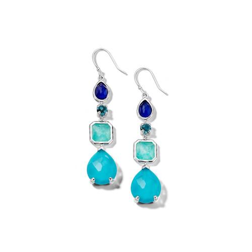 4 Stone Drop Earrings in Sterling Silver SE1688POLARIS