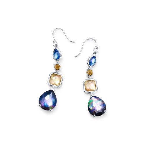 4 Stone Drop Earrings in Sterling Silver SE1688POSITANO