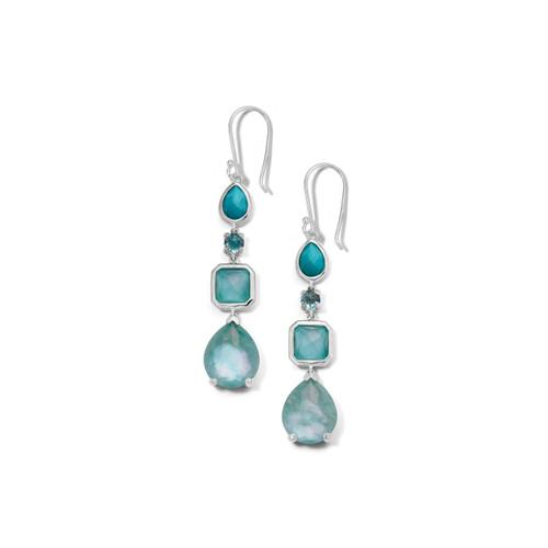 4 Stone Drop Earrings in Sterling Silver SE1688WATERFALL