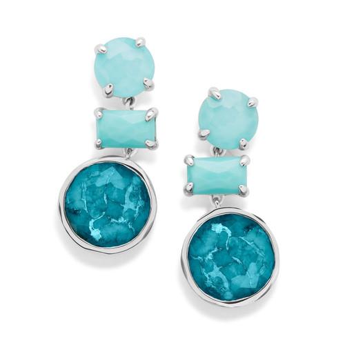 Drop Earrings in Sterling Silver SE1837TURQAM