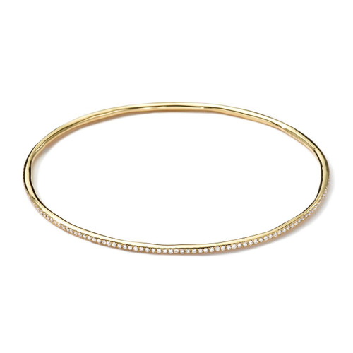 Thin Bangle in 18K Gold with Diamonds GB624DIA-PA