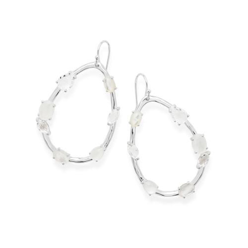Large Pearl Shaped Drop Earrings in Sterling Silver SE1980FLIRT