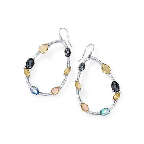 Large Pearl Shaped Drop Earrings in Sterling Silver SE1980POSITANO