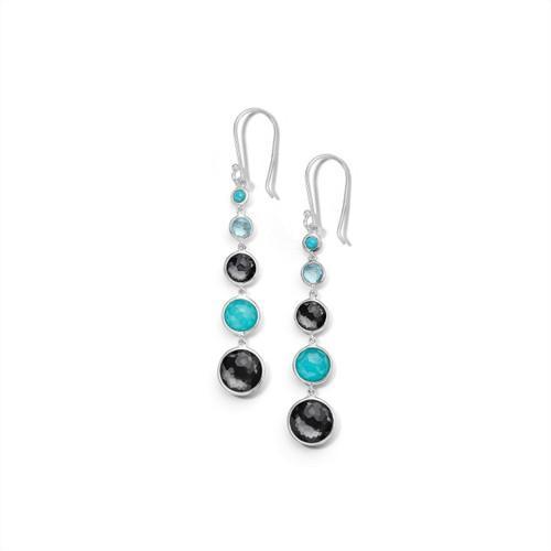 Lollitini 5-Stone Drop Earrings in Sterling Silver SE2106MARITIME