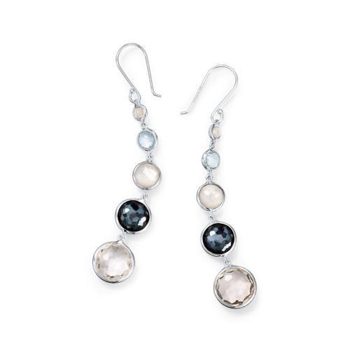 Lollitini 5-Stone Drop Earrings in Sterling Silver SE2106WINTERSKY