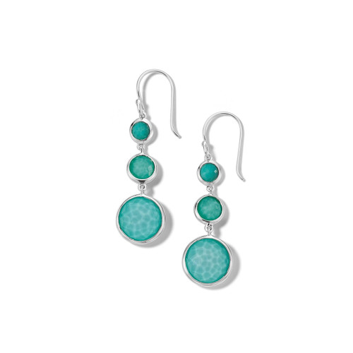 Lollitini 3-Stone Drop Earrings in Sterling Silver SE2107DFTQTQ
