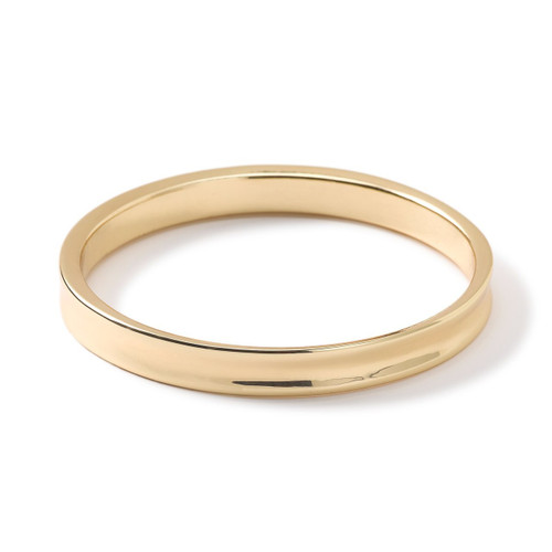 Concave Round Bangle in 18K Gold GB736-PA