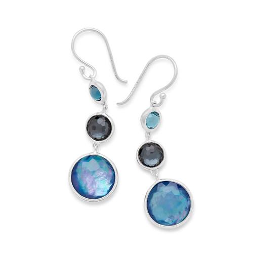 Lollitini 3-Stone Drop Earrings in Sterling Silver SE2107ECLIPSE