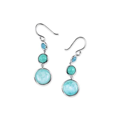 Lollitini 3-Stone Drop Earrings in Sterling Silver SE2107WATERFALL