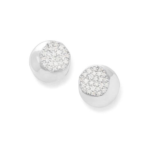 Stud Earrings in Sterling Silver with Diamonds SE2121DIA