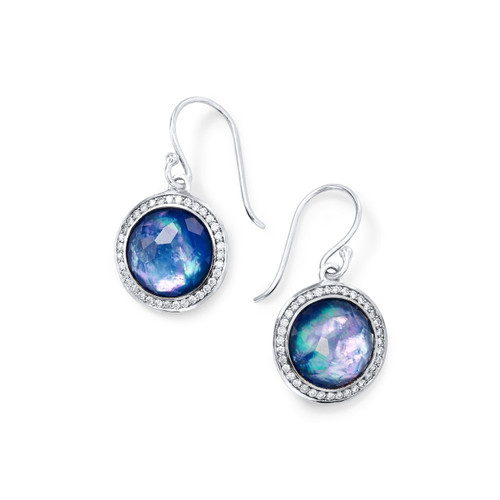 Round Earrings in Sterling Silver with Diamonds SE2124TFCQMOLPDI