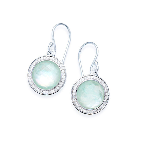 Round Earrings in Sterling Silver with Diamonds SE2124TFCQMPAZDI