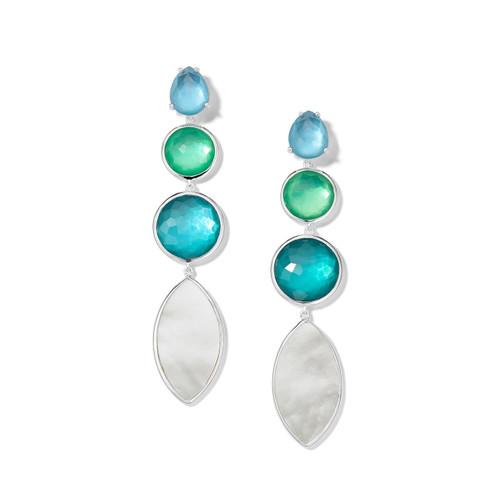 4-Stone Linear Earrings in Sterling Silver SE2272ATLANTIC