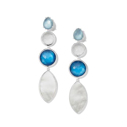 4-Stone Linear Earrings in Sterling Silver SE2272DELFT