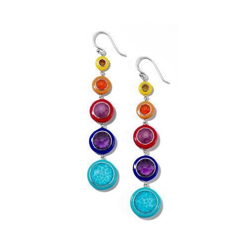 Carnevale Lollitini 5-Drop Earrings in Sterling Silver SE2353MULTI