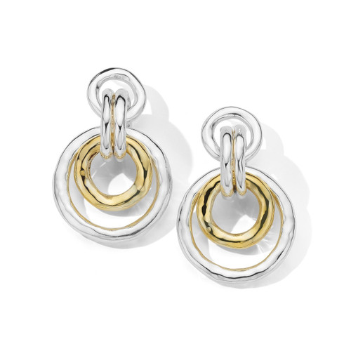Hammered Chunky Link Earrings in Chimera SGE2344