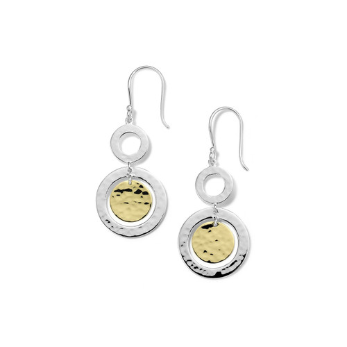 Hammered Small Snowman Earrings in Chimera SGE2393