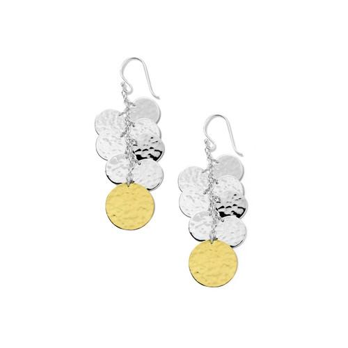 Hammered Spotlight Earrings in Chimera SGE2395