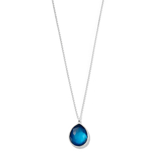 Large Pendant Necklace in Sterling Silver SN090DFADRIATIC