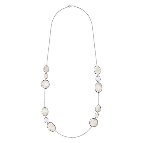 Multi Shape Necklace in Sterling Silver SN1092CQMOP