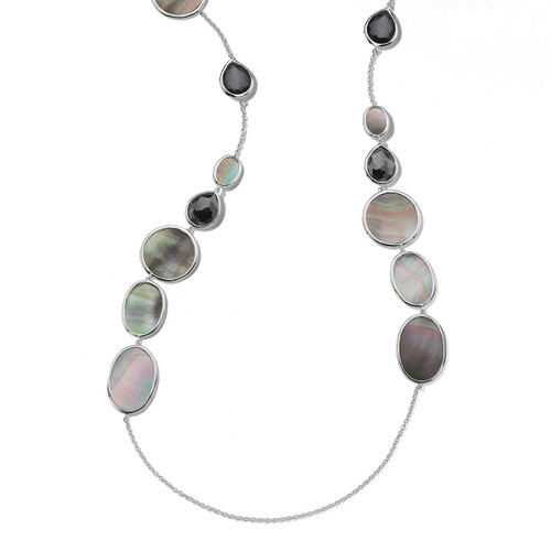 Multi Shape Necklace in Sterling Silver SN1093DFHEMBKL