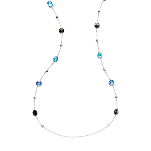 Multi Stone Necklace in Sterling Silver SN1234ECLIPSEX42