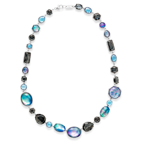 All Stone Necklace in Sterling Silver SN1237ECLIPSE