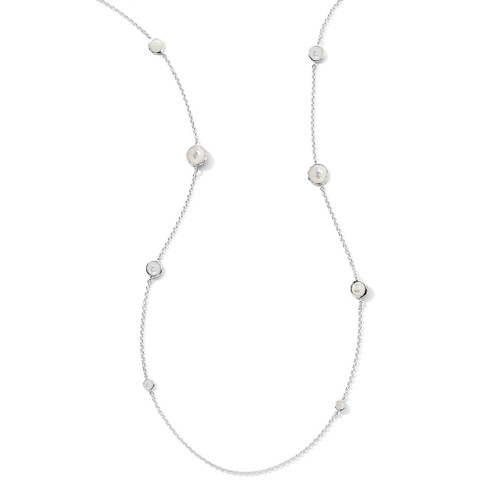 Station Necklace in Sterling Silver SN126MOP