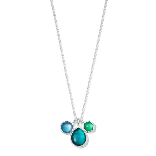 3-Stone Charm Necklace in Sterling Silver SN1273ATLANTIC