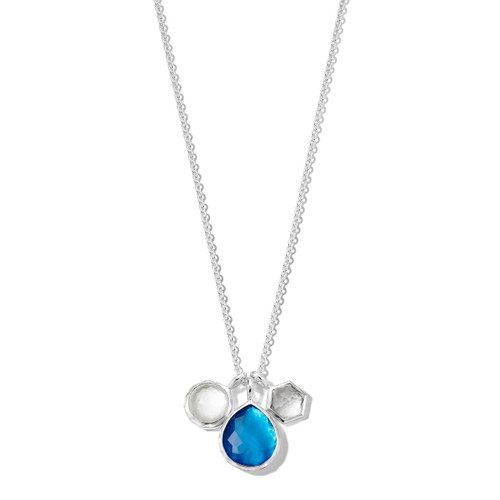 3-Stone Charm Necklace in Sterling Silver SN1273DELFT