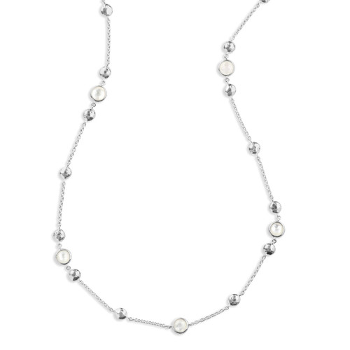 Station Necklace in Sterling Silver SN1280DFMOP