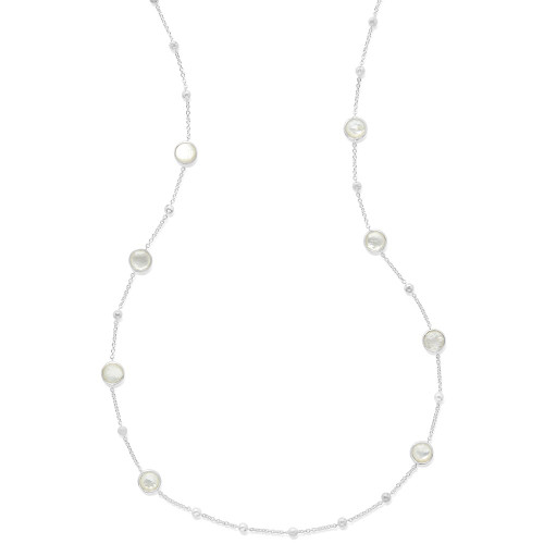 Multi Station Necklace in Sterling Silver SN143DFMOP