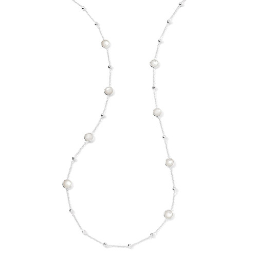Multi Station Necklace in Sterling Silver SN143MOP